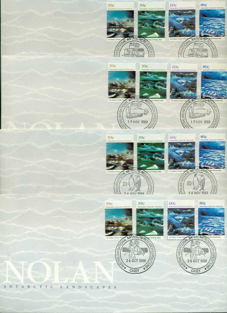 AAT 1989 Nolan, Base Set 4x FDC Lot20242