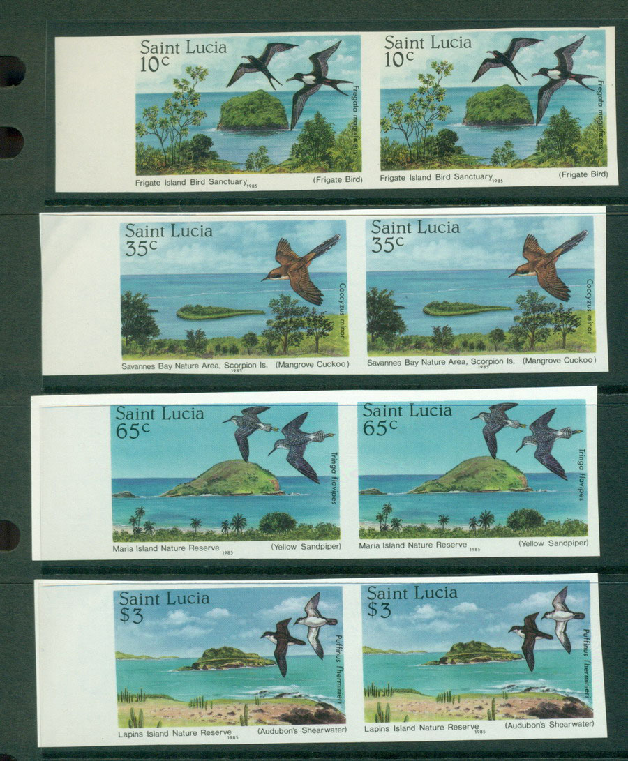 St Lucia 1984 Trees IMPERF pairs MUH Lot21289