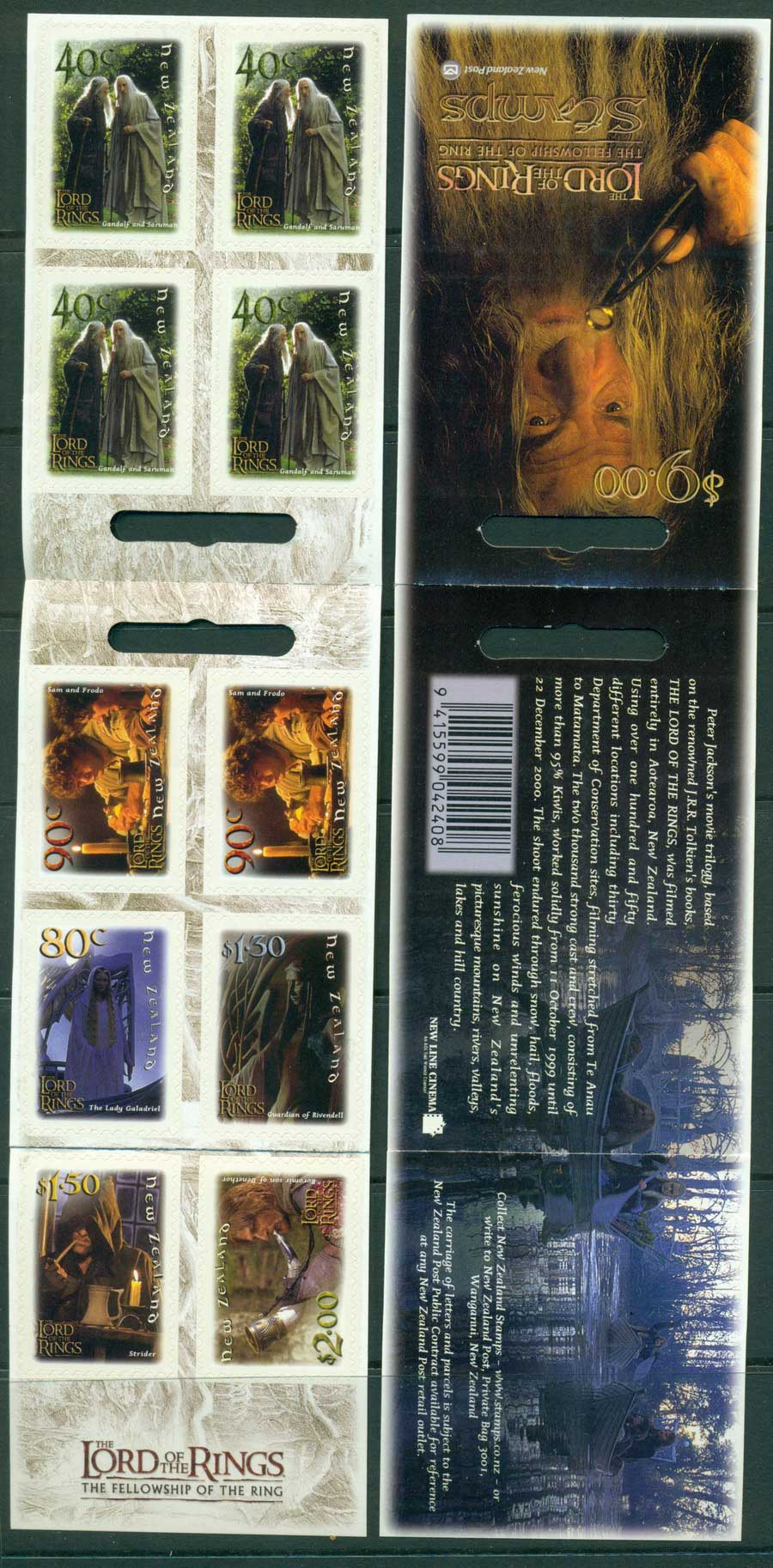 New Zealand 2001 Fellowship of the Ring Booklet MUH Lot21361