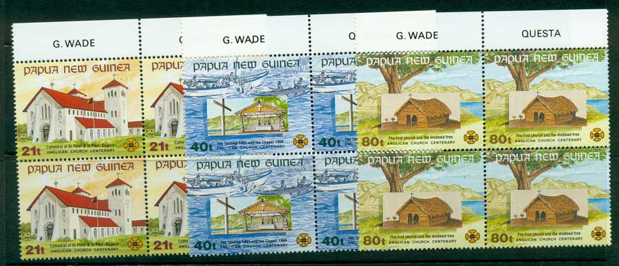 PNG 1991 Churches Block 4 MUH (lot22054)
