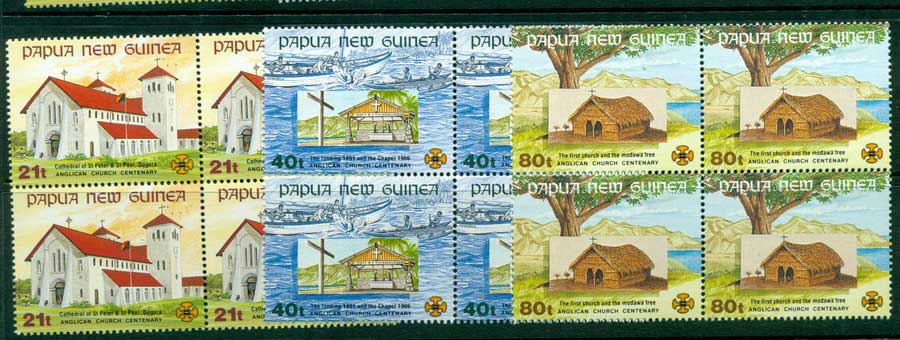 PNG 1991 Churches Block 4 MUH (lot22055)