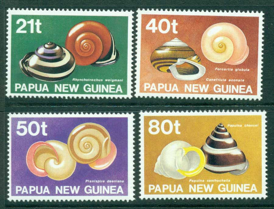 PNG 1991 Snails MUH (lot22056)