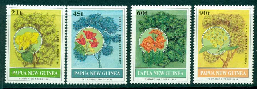 PNG 1992 Flowering Trees MUH (lot22066)