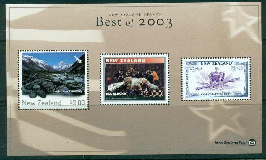 "New Zealand 2003 Best of Stamp Points MS ""Hooker River"" (1/3) MUH lot23429"