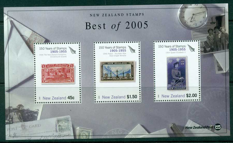 "New Zealand 2005 Best of Stamp Points MS ""1905-1955"" (1/3) MUH lot23431"