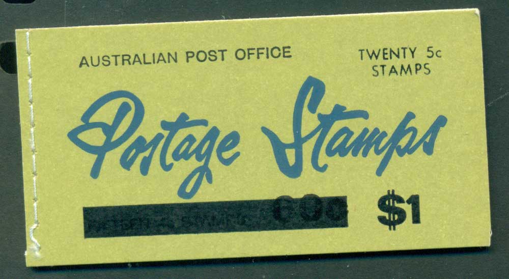 Australia 1967 Booklet $1 bar B111Bf Ed. V67/1 CTO Melbourne GPO Lot25932