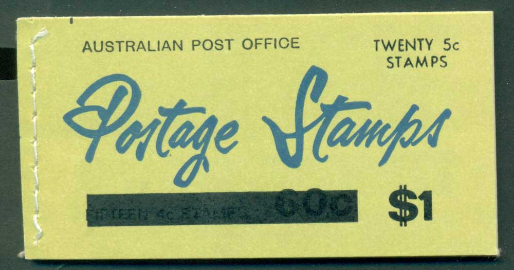 Australia 1967 Booklet $1 bar B107Be Ed. V67/1 Mint Lot25933