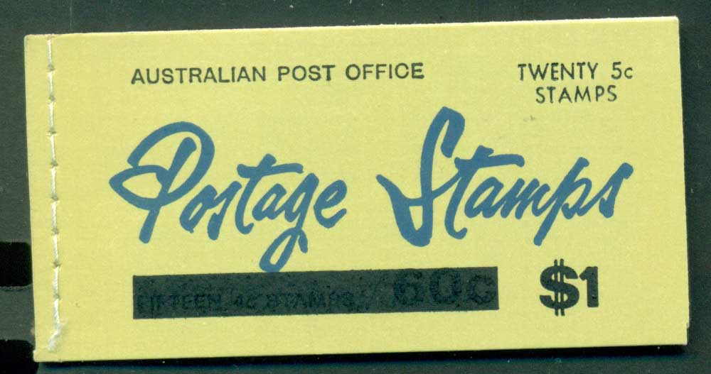 Australia 1967 Booklet $1 bar B110Bf Ed. V67/1 Mint Lot25935