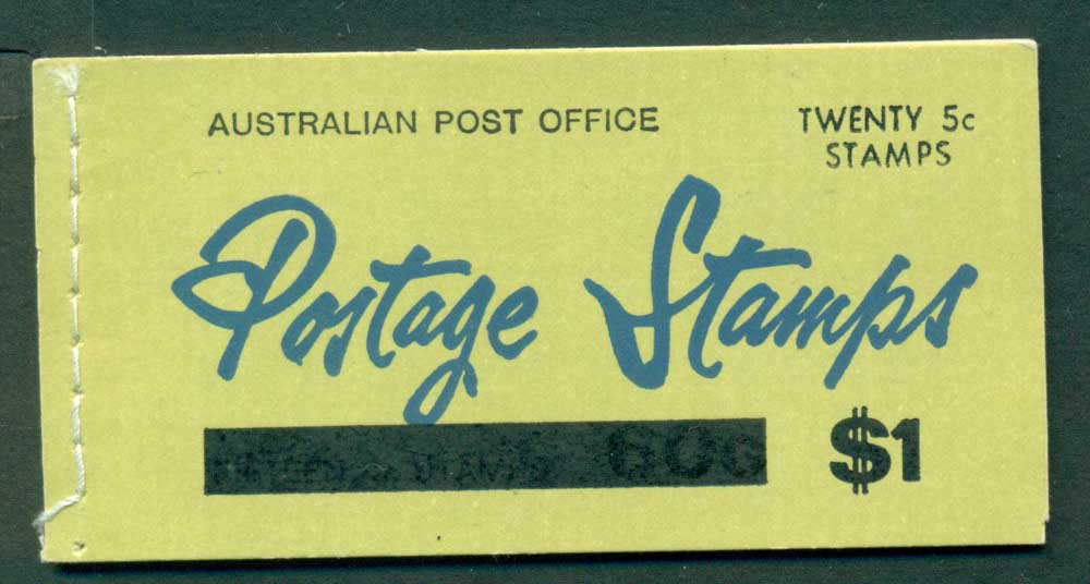 Australia 1967 Booklet $1 bar B110Bf Ed. V67/1 CTO Melbourne GPO Lot25936