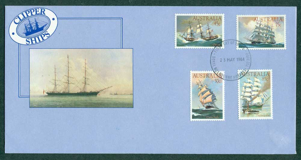 Australia 1984 Clipper Ships Melb Hospital FDC Lot27939