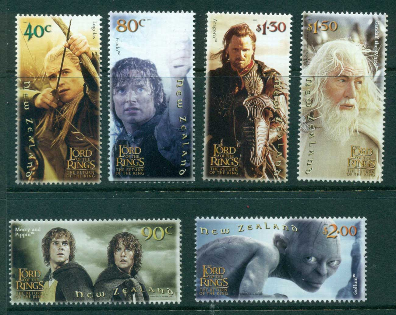 New Zealand 2003 Return of the King MUH Lot28778