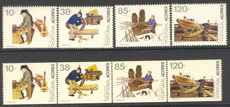 Azores 1992 Professions + Booklet Pane MUH Lot7406 - Click Image to Close