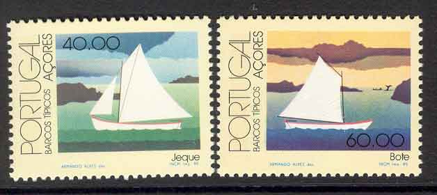 Azores 1985 Native Boats MUH Lot7428