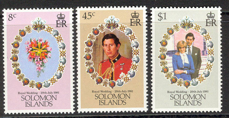 Solomon Is 1981 Diana Royal Wedding MUH Lot7772