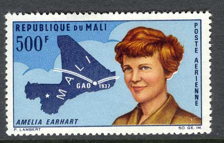 Mali 1967 Amelia Erhart (light crease) MLH Lot8032