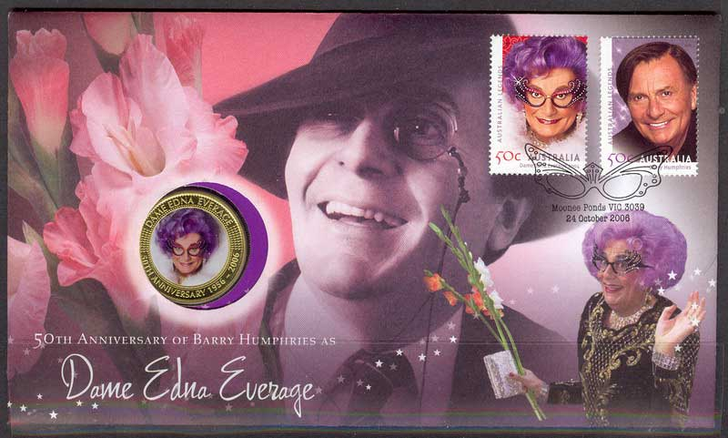 Australia 2006 Dame Edna Everage PNC Lot8073