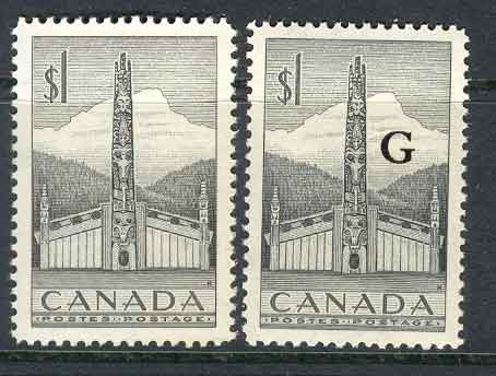 Canada 1952 $1 Totem + Official MUH Lot9069